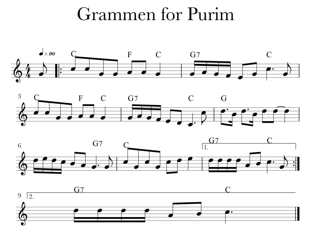 Image of sheet music for Grammen in C