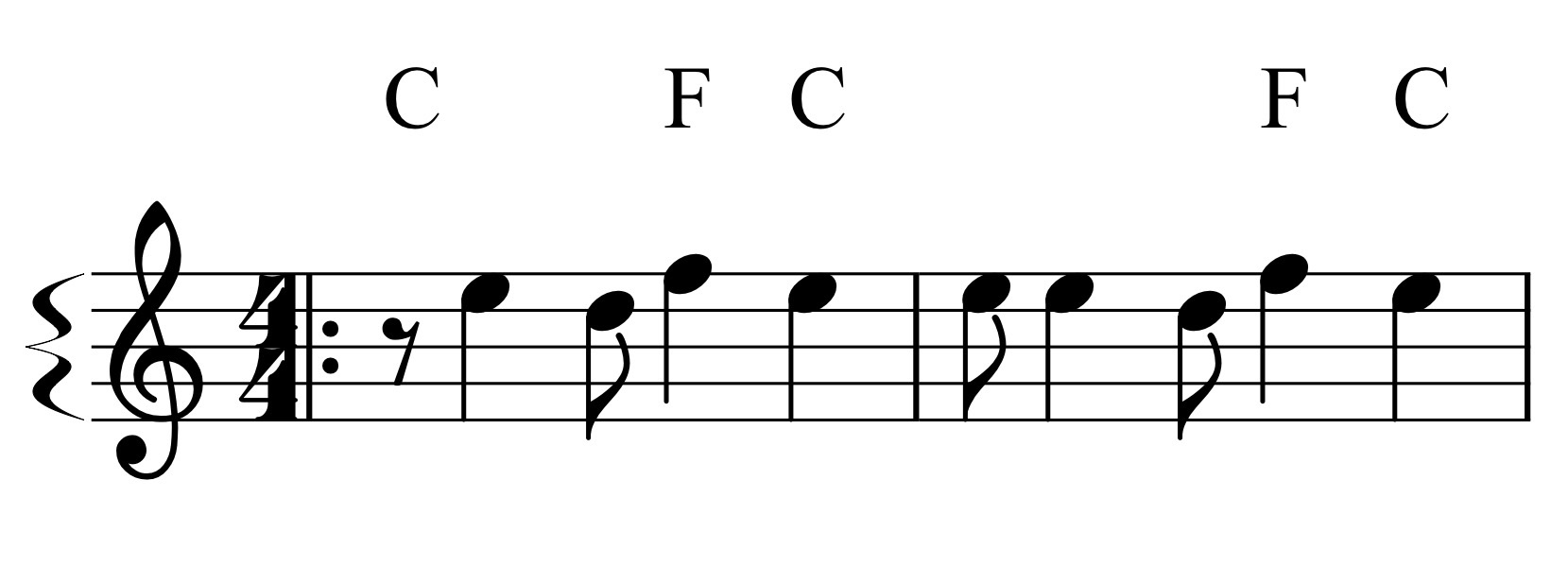 First chord before melody